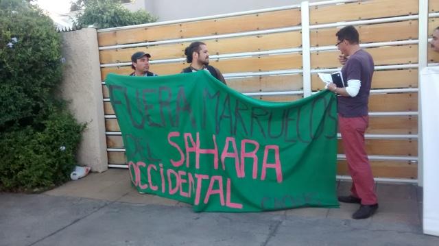 ¡FUERA MARRUECOS DEL SÁHARA OCCIDENTAL!