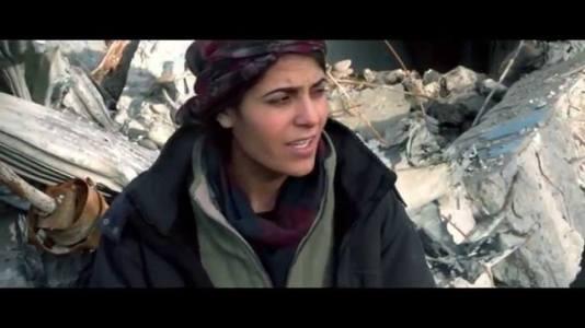 Viyan Peyman en Kobane / Twitter (sigue presente en las luchas del pueblo kurdo)