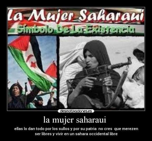 mujer saharaui, símbolo de la existencia