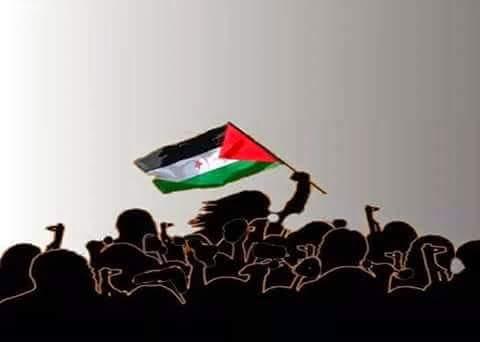 Bandera y multitud