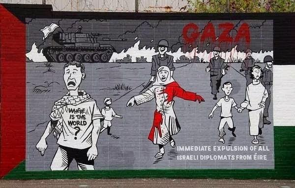 mural de Palestina en Irlanda del Norte