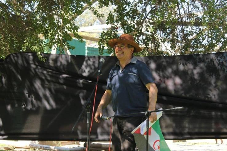 Bandera saharaui1 - acto Camilo