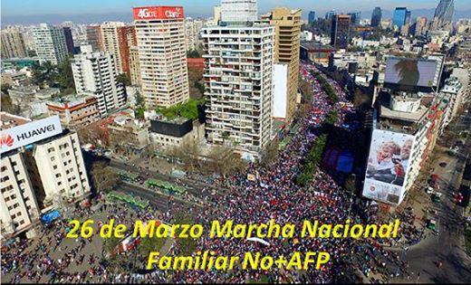 No mas AFP MARCHA 26 Marzo foto