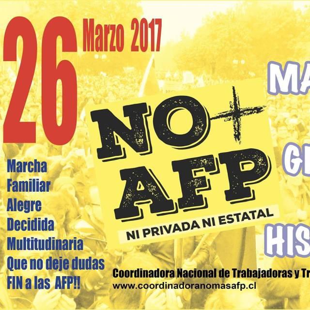 No mas AFP MARCHA 26 Marzo