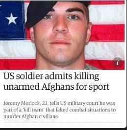 soldados de EEUU mataban afganos por diversion